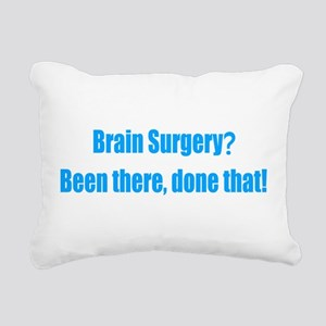Funny Brain Surgery Rectangular Canvas Pillow