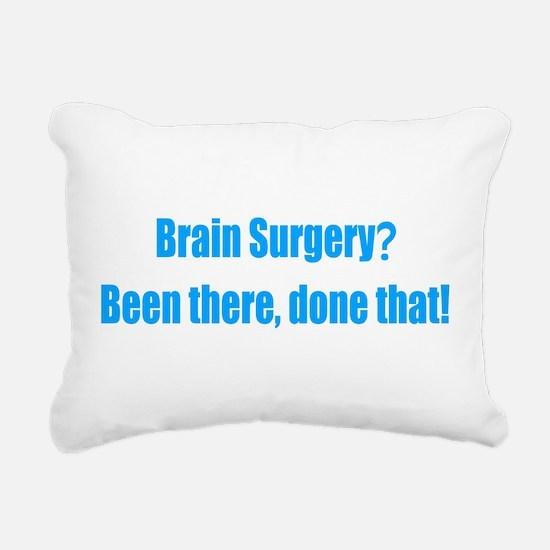 Funny Brain Surgery Rectangular Canvas Pillow