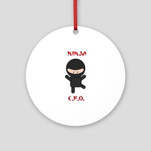 Ninja C.F.O. Ornament (Round)