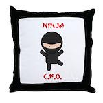 Ninja C.F.O. Throw Pillow