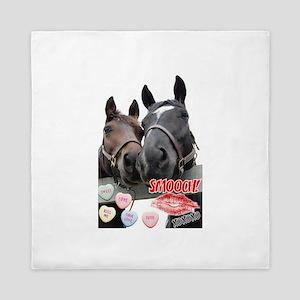 Valentine Horses Queen Duvet