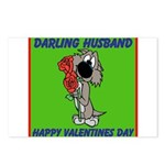 Valentines card (husband) Postcards (Package of 8)
