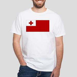 Tonga Flag White T-Shirt