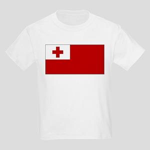 Tonga Flag Kids Light T-Shirt