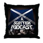 Scottish Podcast Logo Throw Pillow