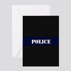 Police Carbon Fiber Greeting Cards
