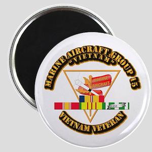 USMC - MAG-15 w VN SVC Ribbon Magnet