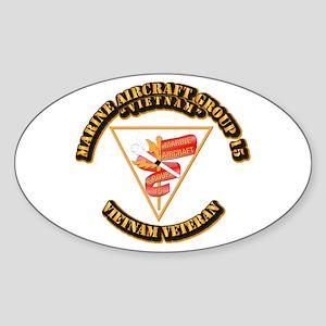 USMC - Marine Aircraft Group 15 Sticker (Oval)