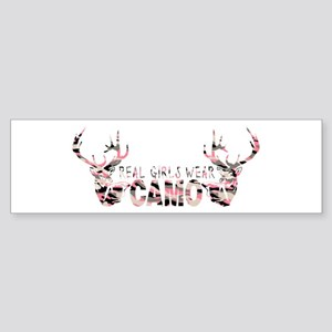 REAL GIRLS WEAR CAMO Bumper Sticker
