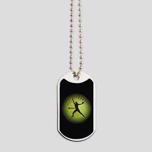 iPitch Fastpitch Softball (right handed) Dog Tags