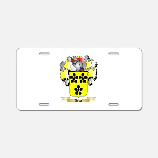 Dykes Aluminum License Plate
