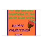 Bestest Boyfriend Postcards (Package of 8)