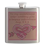 valentines card (wife) Flask