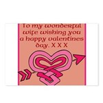 valentines card (wife) Postcards (Package of 8)