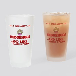 All I care about are Hedgehogs Drinking Glass
