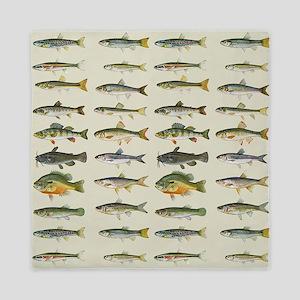 Freshwater Fish Chart Queen Duvet