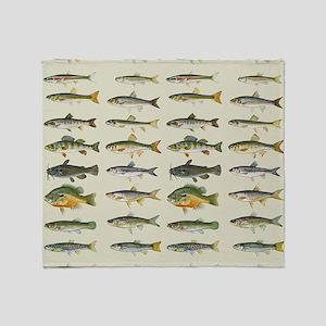 Freshwater Fish Chart Throw Blanket