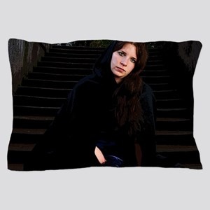 Girl on Stairs Pillow Case