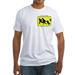 Border Crossing Sign Fitted T-Shirt