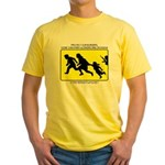 Border Crossing Sign Yellow T-Shirt