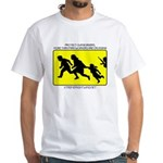 Border Crossing Sign White T-Shirt