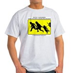 Border Crossing Sign Ash Grey T-Shirt