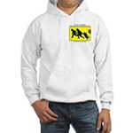 Border Crossing Sign Hooded Sweatshirt