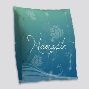 Namaste Burlap Throw Pillow