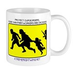 Border Crossing Sign Mug