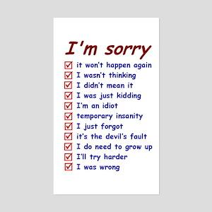 Good Excuses Sticker (Rectangle)