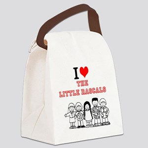 I Love The Little Rascals Canvas Lunch Bag