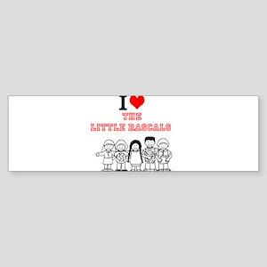 I Love The Little Rascals Bumper Sticker