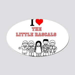 I Love The Little Rascals Wall Decal