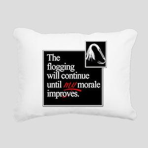 Flogging Morale Rectangular Canvas Pillow