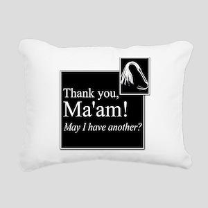 Thank You Ma'am Rectangular Canvas Pillow