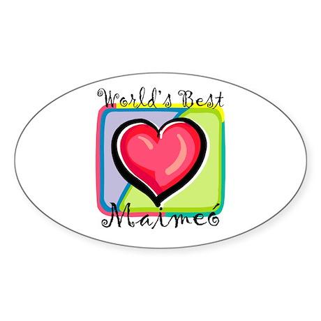WB Grandma [Irish Gaelic] Oval Sticker