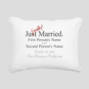 Finally Married Rectangular Canvas Pillow