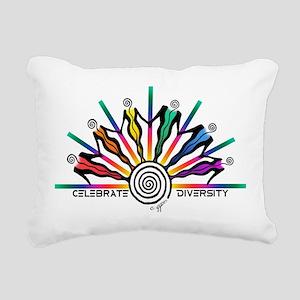 Celebrate Diversity Rectangular Canvas Pillow