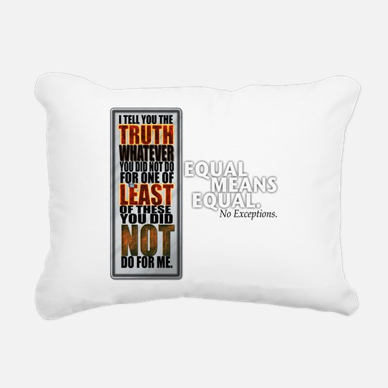 Equal Means Equal Rectangular Canvas Pillow
