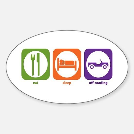 Eat Sleep Offroad Oval Decal