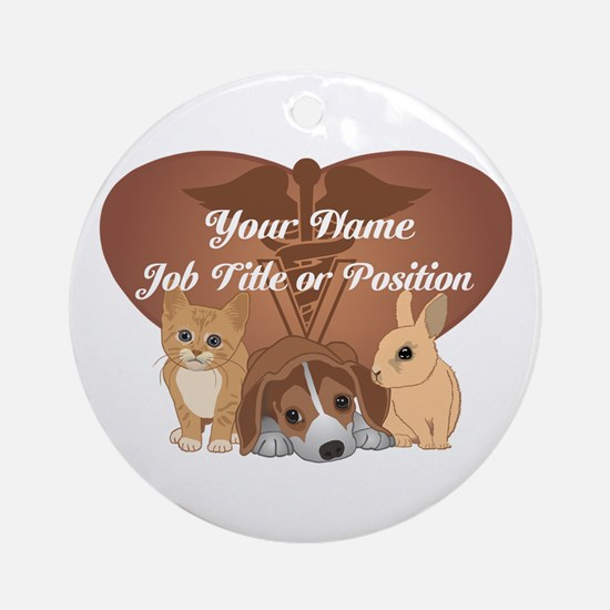Personalized Veterinary Ornament (Round)