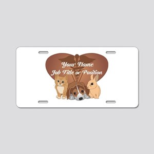 Personalized Veterinary Aluminum License Plate