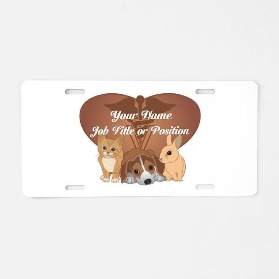 Personalized Veterinary Aluminum License Plate