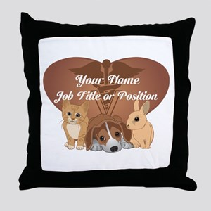Personalized Veterinary Throw Pillow