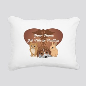 Personalized Veterinary Rectangular Canvas Pillow