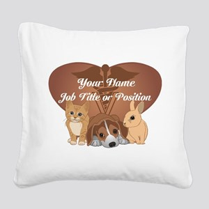 Personalized Veterinary Square Canvas Pillow