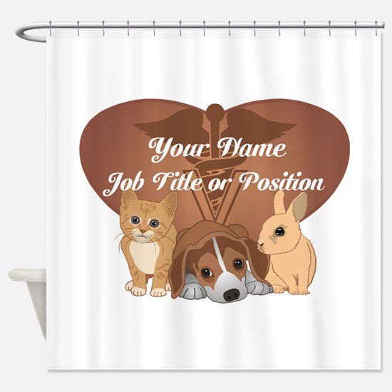Personalized Veterinary Shower Curtain