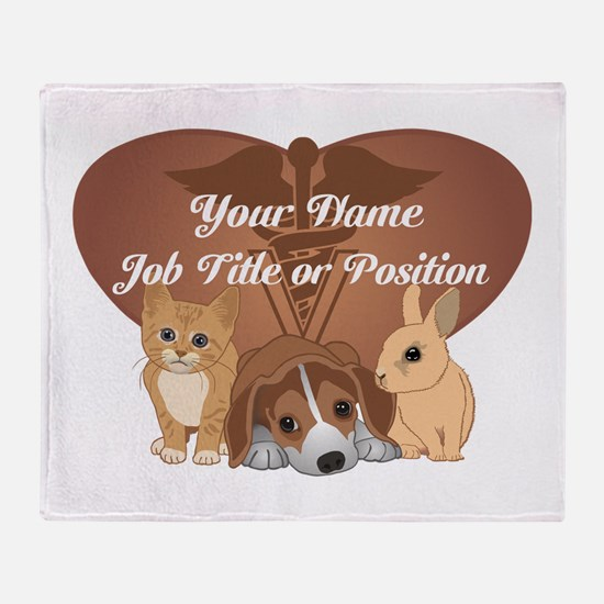 Personalized Veterinary Throw Blanket