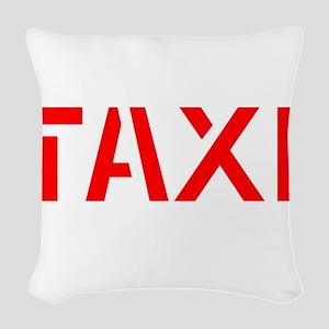 Taxi Woven Throw Pillow
