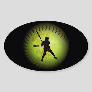iHit Fastpitch Softball (right handed) Sticker